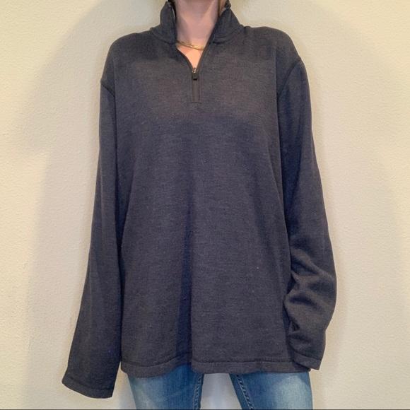 Eddie Bauer Cotton Dark Blue Sweatshirt,XL